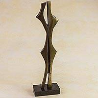 Bronze sculpture, 'In Confidence' - Bronze sculpture