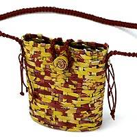Recycled paper handbag, 'Summer' - Recycled paper handbag