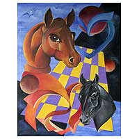 'Game of Chess' - Surrealist Painting