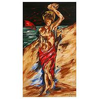 'San Sebastian' - Spiritual Expressionist Painting