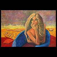 'Woman and Landscape' (2008) - Brazil Fine Art Painting