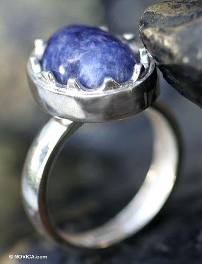 Sodalite cocktail ring