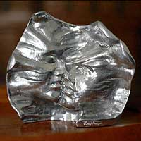 Aluminum sculpture, 'The Kiss' - Romantic Aluminum Sculpture from Brazil