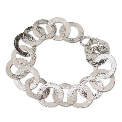 Hand Made Sterling Silver Link Bracelet