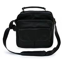 Leather shoulder bag, 'Liquorice Secrets' - Leather shoulder bag