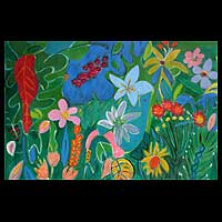 'Tropical Garden' - Brazil Landscape Painting