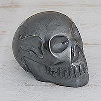 Hematite statuette, 'Gray Skull' - Hematite statuette