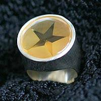 Citrine cocktail ring, 'Star of Venus' - Citrine cocktail ring