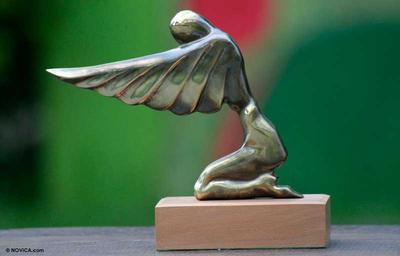 Bronze sculpture, 'Angel of Gratitude' - Bronze sculpture