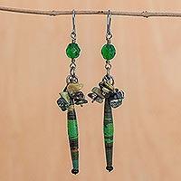 Serpentine cluster earrings, 'Hope'