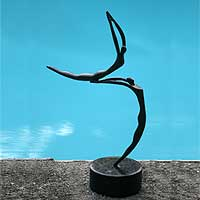 Bronze sculpture, 'Circles' - Bronze sculpture