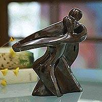 Bronze sculpture, 'Dance With Me' - Romantic Bronze Sculpture