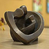 Bronze sculpture, 'Lassos of Love' - Bronze sculpture