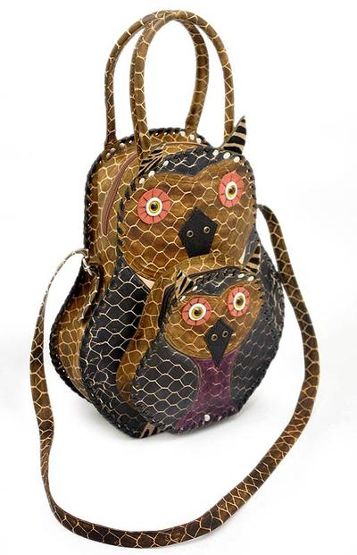Novica Leather calf bag, Wilderness