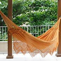 Medium image of cotton hammock  u0027belem sun u0027  double    cotton hammock from brazil