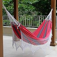 Medium image of cotton hammock  u0027scarlet samba u0027  double    brazilian cotton hammock  double