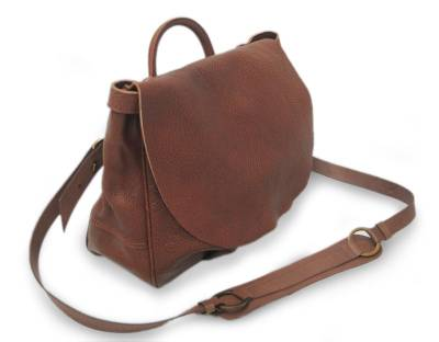 Leather Messenger Bag Boho Chic Crafted Brown