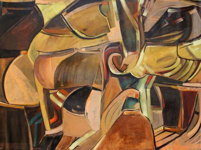 'Pots' (2011) - Brazil Fine Art Abstract Painting