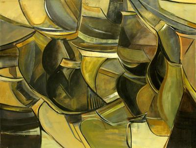 'Tin Pots' (2011) - Brazilian Abstract Painting