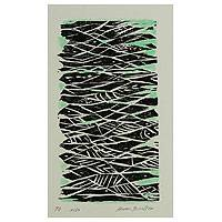 'Interwoven' - Original Woodcut Print