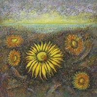 'Sunflowers' (1999) - Landscape Impressionist Painting