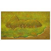 'Rio de Janeiro' (2010) - Fine Art Original Acrylic Painting