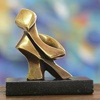 Bronze sculpture, 'Dance With Me' - Bronze sculpture