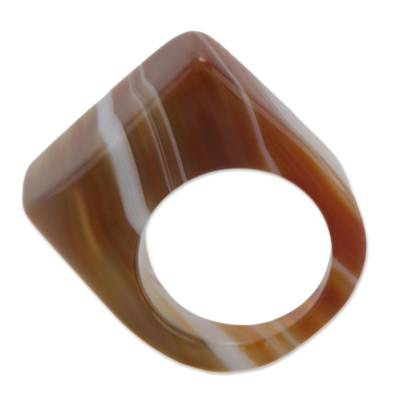 Modern Agate Cocktail Ring
