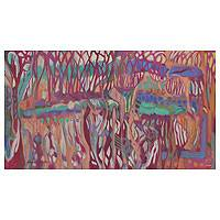 'Marshland I' (2013) - Brazilian Abstract Marshland Painting