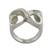 Sterling silver heart ring, 'Infinite Love' - Artisan Crafted Sterling Silver Heart Band Ring (image 2b) thumbail