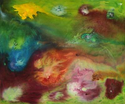 'Playing With Colors' - Multicolor Abstract Brazilian Fine Art Painting