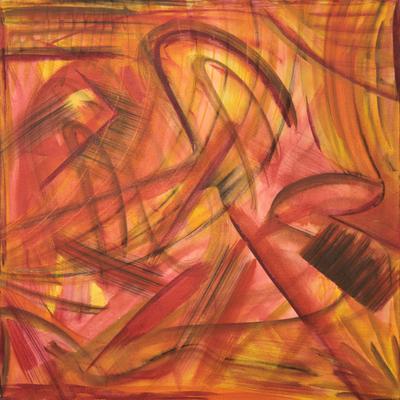 'Movement' - Multicolor Abstract Brazilian Fine Art Painting