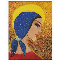 'Madonna Profile' - Original Virgin Mary Religious Painting Limited Edition