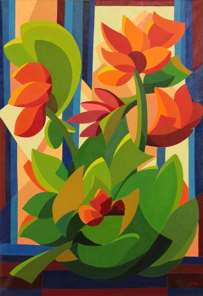 Cubism Acrylic Painting