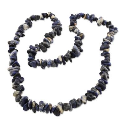 Artisan Crafted Sodalite Strand Necklace