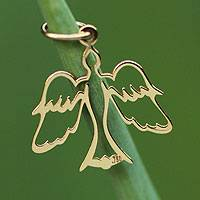 Gold pendant, 'Come, Holy Spirit' - 18 Karat Gold Dove Pendant