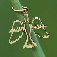 Gold pendant, 'Come, Holy Spirit'