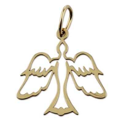 Gold pendant, 'Come, Holy Spirit' - 18 Karat Gold Dove Pendant