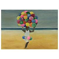 'The Ball Seller II' (2013) - Brazilian Beach Scene Painting