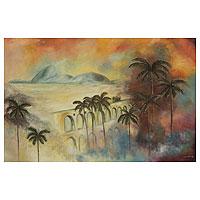 'Marvelous Rio II' (2013) - Postcard View of Rio de Janeiro Oil Painting