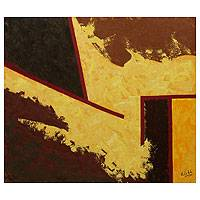 'The Carpet' - Abstract Brazilian Signed Original Painting