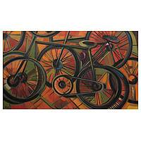 'The Champion' (2001) - Brazil Bicycle Painting
