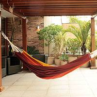 Cotton hammock, 'Formosa' (Double) - Fair Trade Cotton Hammock from Brazil (Double)