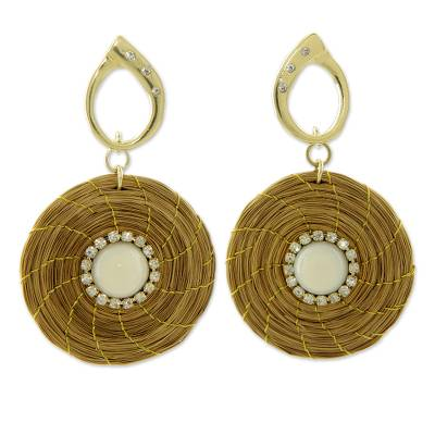 Artisan Crafted Jewelry Natural Golden Grass Earrings
