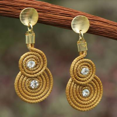 products chinese handcrafted daisy original crystal wildflowers copper pickin earrings