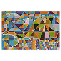 'Pedra da Gavea' (2013) - Brazilian Hang Gliding Geometric Abstraction Painting