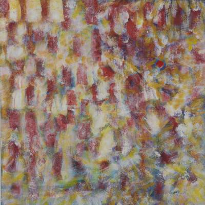 'Informal Abstraction' - Brazilian Multi coloured Abstract Painting Signed by Artist