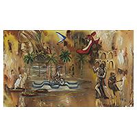 'Carioca Magic' - Signed Mixed Media Painting of Rio de Janeiro Icons