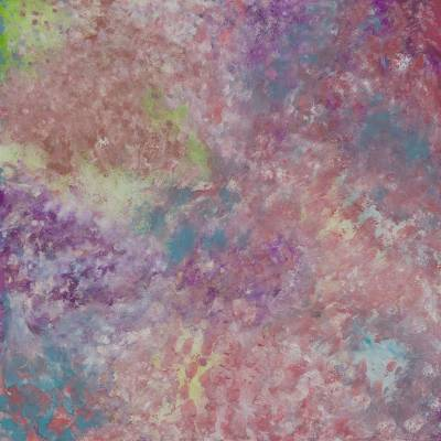 'Magical Light' (2014) - Multicolored Abstraction Signed Brazilian Painting