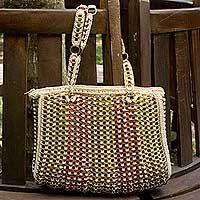 Featured review for Soda pop-top shoulder bag, Golden Bronze Ipanema